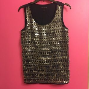 Coldwater Creek Sequin Tank Top